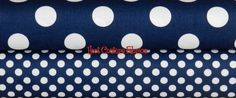 Riley Blake Chevron and Dots 1/4 yard (fat quarter) Nautical / Patriotic Bundle - 2 yards total. $18.57, via Etsy.