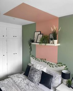 Best Ceiling Paint, Ceiling Paint Colors, Ceiling Paint Ideas, Ceiling Painting, Wall Painting For Bedroom, Ceiling Paint Design, Creative Wall Painting, Apartment Painting, Apartment Walls