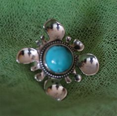 Online veilinghuis Catawiki: Exclusief ambachtelijk vervaardigde zilveren ring met mooie turkoois