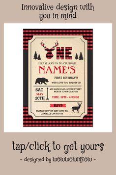 #ad LUMBERJACK FIRST BIRTHDAY INVITE WOODLAND CHECK #lumberjack #woodland #check #deer #bear #firstbirthday #1stbirthday #invitations #firstbirthdayideas #affiliatelink Bearded Tattooed Men, Bearded Men, Abercrombie Men, Turning One, First Birthday Invitations, Kids Wood, Check Printing, Native American History, Woodland Party
