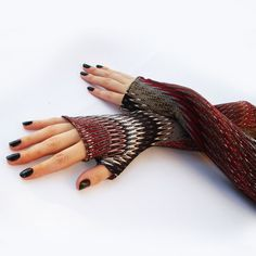 Long fingerless gloves, mittens, arm warmers - vintage, stempunk, goth, victorian, , abstract, colorful