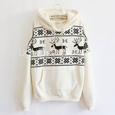 Fawn Hooded Fleece Sweater A 091110 Boho Outfits, Cute Outfits, Fashion Outfits, Boho Fashion, Winter Fashion, Fleece Sweater, Long Sleeve Sweater, Passion For Fashion, Dress To Impress