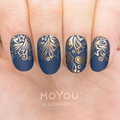 Explore our prettily perfect range of Princess nail art designs and transform your look without the need for a glass slipper or magic mirror. Moyou Stamping, Stamping Nail Art, White Nail Art, White Nails, Gel Designs, Nail Art Designs, Fingernail Designs, Princess Nail Art, Gold Nail Polish
