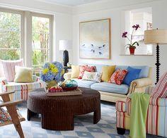 Яркие интерьеры * Colorful living rooms - THE ART of LIVING