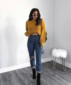 Cute Fall Outfits Ideas 2018 - 50 fall outfit ideas Put away your summer fits, because fall is here! Here are cute fall outfits for Get your fall outfit inspo now Lazy Fall Outfits, Toddler Fall Outfits Girl, Preppy Fall Outfits, Fall Outfits For Teen Girls, Fall Outfits For Work, Fall Fashion Outfits, Look Fashion, Winter Outfits, Woman Fashion