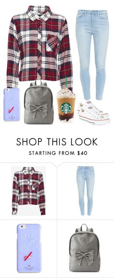 """School Outfit"" by jenlisaac ❤ liked on Polyvore featuring мода, Rails, Paige Denim, Kate Spade, Candie's, Converse, women's clothing, women, female и woman"