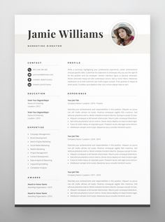 Clean, modern and professional resume design. Easy to use and fully customizable, including headings or colors. Includes resume, cover letter and references templates in US Letter and A4 formats. Available for Microsoft Word. One Page Resume Template, Letterhead Template, Modern Resume Template, Creative Resume Templates, Cover Letter For Resume, Cover Letter Template, Letter Templates, Resume References, Microsoft Word 2007