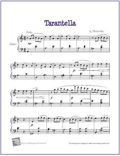 Tarantella (Pieczonka) | Free Sheet Music for Piano - http://makingmusicfun.net/htm/f_printit_free_printable_sheet_music/tarantella-piano.htm (Scheduled via TrafficWonker.com)