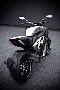 Ducati, black and chrome