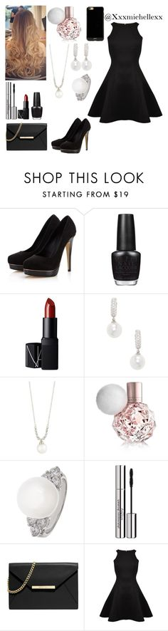"""Date night with your Lovely crush( Or mother when you don't have a crush)"" by xxxmichellexx ❤ liked on Polyvore featuring Lipsy, OPI, NARS Cosmetics, Belpearl, MICHELA, Sisley Paris, MICHAEL Michael Kors, Ted Baker and Sonix"