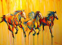 Horse art, Equine art, for sale.: Appaloosa Horses Galloping, by Theresa Paden Horse Artwork, Horse Paintings, Painted Pony, Horse Drawings, Equine Art, Native American Art, Light Art, Painting & Drawing, Light Painting