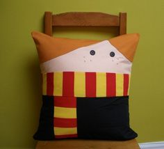 squee ron weasley pillows!!  these would probably be easy to make.  not to mention really awesome.