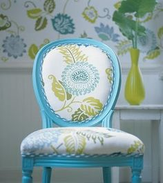 Bright Painted Furniture- so cute.