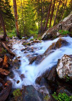 A waterfall in the Wheeler Peak Wilderness near Taos, New Mexico
