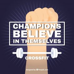 Crossfit background with quote Free Vector