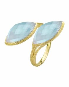 Tree of Life Blue Topaz Ring, Size 7 by Elizabeth Showers at Last Call by Neiman Marcus.
