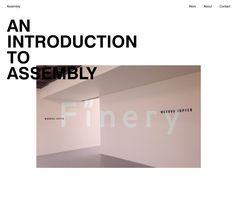 Clean Web Design Layout // http://assemblylondon.com/ #Clean #Minimal #WebDesign