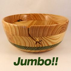 """Our unique Yarn Project Bowl will hold the entire project in style when youre not working on it! At a whopping 10"""" in diameter and 4 1/4"""""""