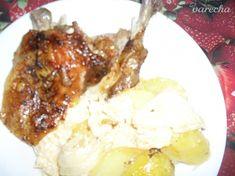 Kuracie stehná na kyslej kapuste so zemiakmi (Fotorecept). - recept | Varecha.sk Mashed Potatoes, Chicken, Meat, Ethnic Recipes, Red Peppers, Whipped Potatoes, Smash Potatoes, Cubs