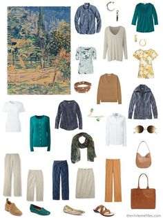 Four Ways to Wear Denim and Khaki in a Capsule Wardrobe - Start with Art!