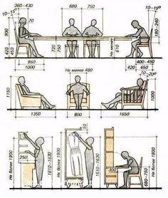 Полезные схемы для проектирования мебели в доме. | Всё об интерьере для дома и квартиры
