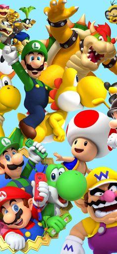 Mundo Super Mario, Lego Super Mario, Super Mario Art, Apple Wallpaper, Cartoon Wallpaper, Iphone Wallpaper, Game Mario Bros, Mario Bros Arcade, How To Draw Mario
