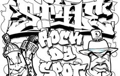 Coloring Pages Of Graffiti