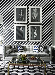 Black and white perfection in this totally wild living room | 11 Rooms from Interior Designer Greg Natale
