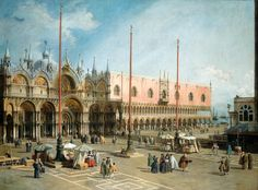 La place Saint-Marc, Venise | Canaletto