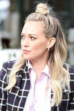 Hilary Duff #HilaryDuf #Halfbun