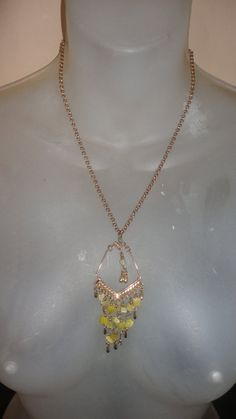 drop dripping yellow chandelier  pendant on by PatsapearlsBoutique, $9.99