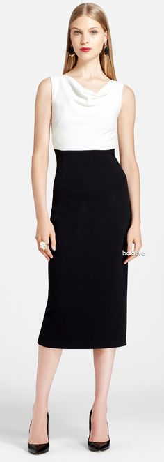 Oscar de la Renta Jersey Pencil Dress