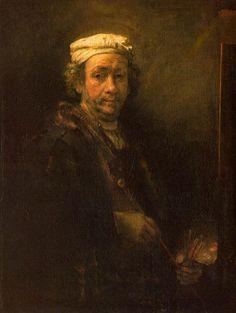 Autoportrait au chevalet, Rembrandt, 1660