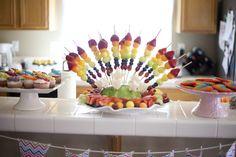 "Photo 9 of 26: Rainbow Unicorn / Birthday ""Cammi's 5th Birthday"" | Catch My Party"