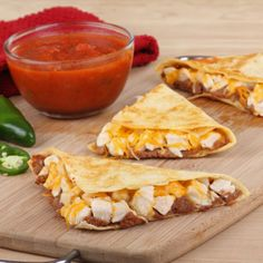 Easy Chicken Quesadillas | Recipes | Spoonful Easy Chicken Quesadillas An easy chicken quesadilla recipe that will satisfy food snobs and non-picky eaters alike.