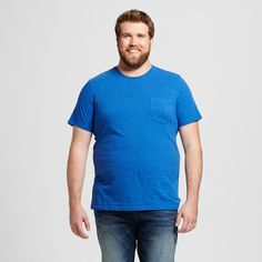 Men's Big & Tall Crew Neck T-Shirt Blue Xlt - Mossimo Supply Co., Size: XL Tall