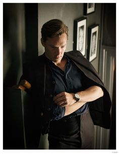 """Photographed by David Goldman and styled by Rose Forde, actor Benedict Cumberbatch covers the most recent issue of Flaunt magazine. Discussing his Oscar buzz movie The Imitation Game, in which he portrays WWII Enigma code-cracker Alan Turing, who was later arrested for being gay, Cumberbatch explains, """"It was a hysterical era, of course. It was... [Read More]"""