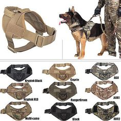 Tactical Dog K9 Training Patrol Vest Harness [2 Sizes, 9 colors option]