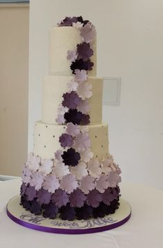Purple Ombre wedding Cake by Panari