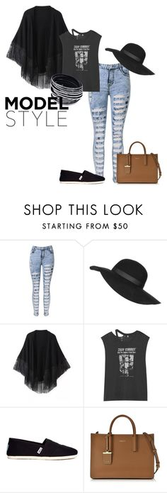 """Casual Look#17"" by onelastmagicalwish on Polyvore featuring Topshop, Relaxfeel, R13, TOMS, DKNY, women's clothing, women's fashion, women, female and woman"