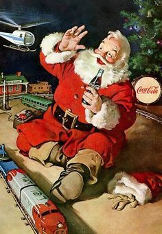 Christmas Coca-Cola Vintage Cards for Xmas and Holidays, Vintage Coca-Cola - Coca-Cola - Vintages Cards - coca, cola, cocacola, vintage, xmas, christmas, holidays, free, clipart,