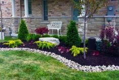 Astonishing Low Maintenance Landscaping Ideas For Front Yard Photo Design Ideas. Landscaping Gallery at Front Yard Low Maintenance Landscaping Ideas Cheap Landscaping Ideas, Small Backyard Landscaping, Landscaping With Rocks, Landscaping Design, Backyard Ideas, Mulch Landscaping, Modern Backyard, Landscaping Software, Black Rock Landscaping