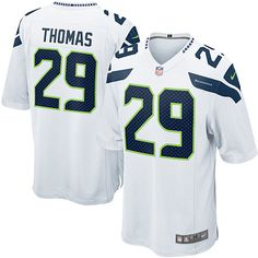 Mens Nike Seattle Seahawks #29 Earl Thomas Elite White NFL Jersey