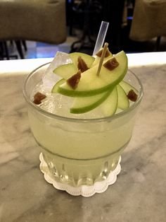 Toffee Apple - blends vodka with sweet apple, rich butterscotch and a dash of lemon for that citrus kick.
