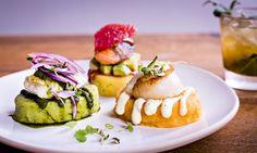 Peruvian food: causas at Andina. Photograph: Paul Winch-Furness