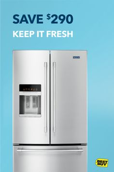 Save $290 on the Maytag 24.7 cu. ft. French Door Refrigerator. From the customizable interior that keeps your food fresh longer, to the stainless steel beauty on the outside, this French door fridge is a musthave. Ooh la la. Savings good through 10/28/17.