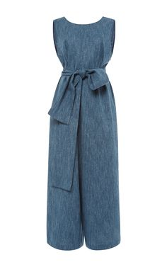 Linen #Denim Relaxed Jumpsuit - Isa Arfen Resort 2016
