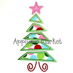 Applique Market has a wonderful selection for all of your Christmas custom design needs. This time of year is a great time of the year for customized clothing with this tree triangle applique design.