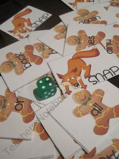Gingerbread Man sight word game (free!!)
