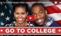 Go To College Music Video (with FIRST LADY MICHELLE OBAMA!) America's First Lady of the U.S.A., Michelle Obama and SNL's Jay Pharoah team up together to rap about why college is awesome…